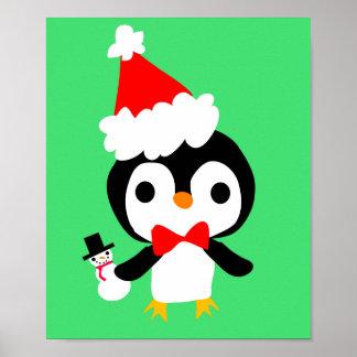 Christmas Penguin Poster 2