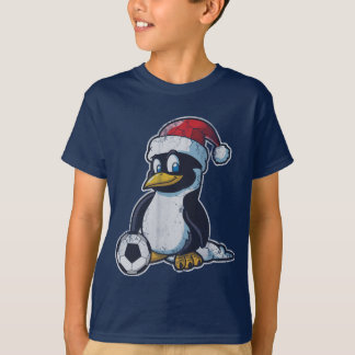 Christmas Penguin Soccer T-Shirt