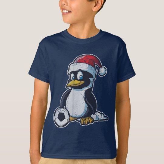 Christmas Penguin Soccer T-Shirt