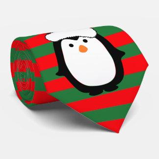 Christmas Penguin Tie