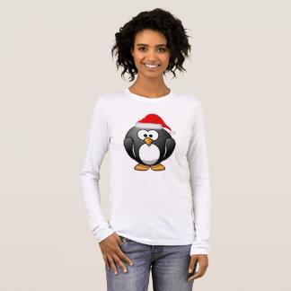 Christmas Penguin Woman's Long Sleeve Shirt