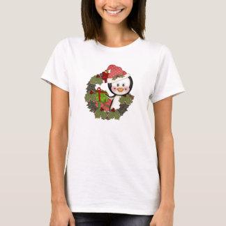 Christmas Penguin Wreath t-shirt