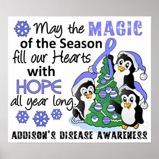 Christmas Penguins Addison's Disease Posters