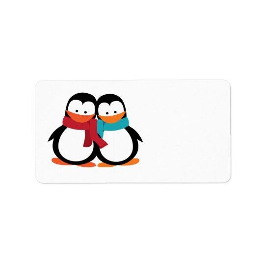 Christmas Penguins Address Label