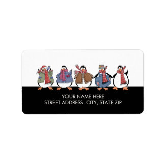 Christmas Penguins Address Mailing Labels