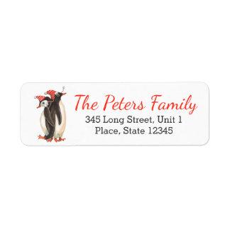 Christmas Penguins | Address Return Labels