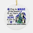 Christmas Penguins ALS Lou Gehrig's Disease Christmas Ornament