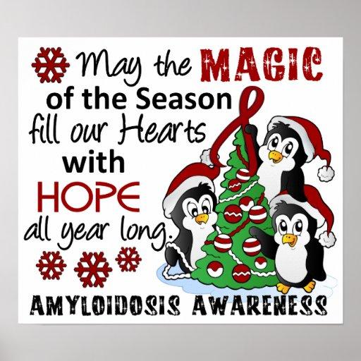 Christmas Penguins Amyloidosis Print