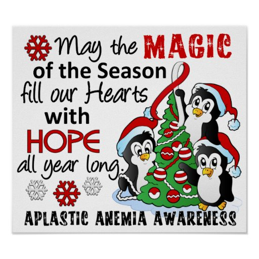 Christmas Penguins Aplastic Anemia Posters