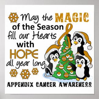 Christmas Penguins Appendix Cancer Poster