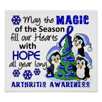 Christmas Penguins Arthritis Print