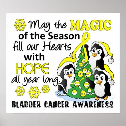 Christmas Penguins Bladder Cancer Posters