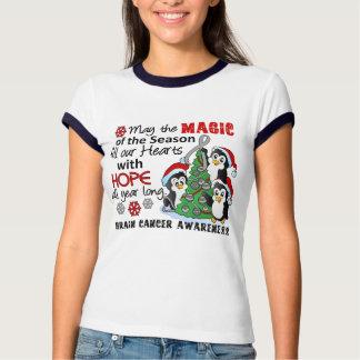 Christmas Penguins Brain Cancer Tshirts