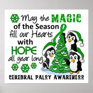 Christmas Penguins Cerebral Palsy Poster