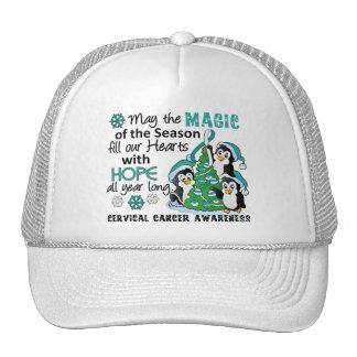 Christmas Penguins Cervical Cancer Cap