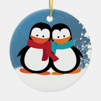 Christmas Penguins Christmas Ornament