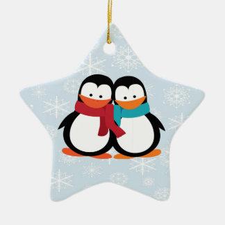 Christmas Penguins Christmas Ornament