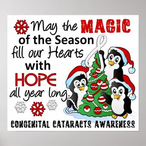 Christmas Penguins Congenital Cataracts Print