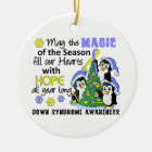 Christmas Penguins Down Syndrome Christmas Ornament