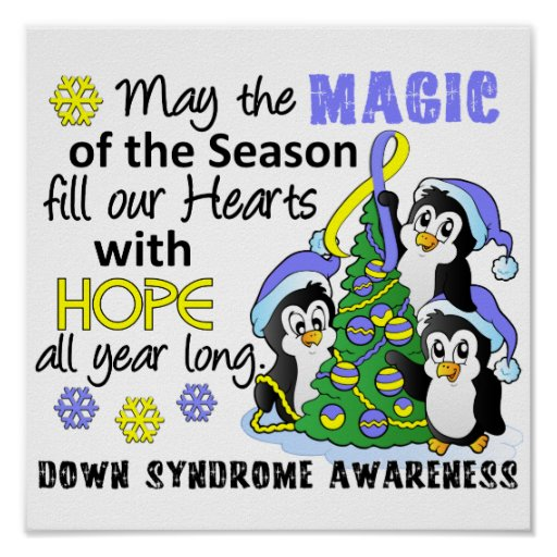 Christmas Penguins Down Syndrome Poster