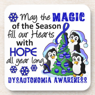 Christmas Penguins Dysautonomia Coaster