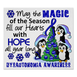 Christmas Penguins Dysautonomia Poster