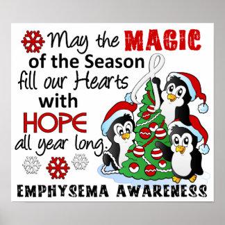Christmas Penguins Emphysema Poster
