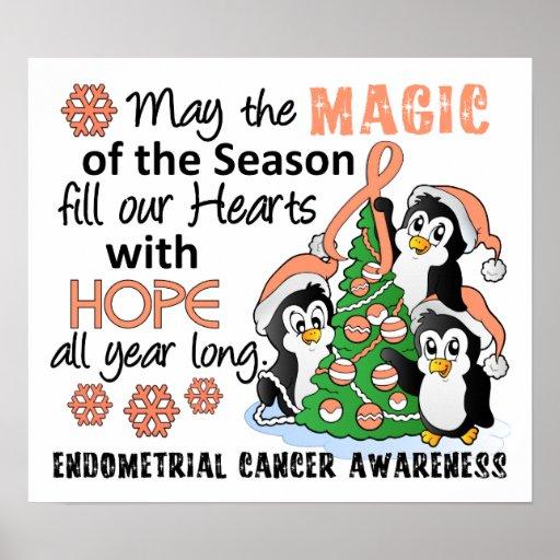 Christmas Penguins Endometrial Cancer Posters