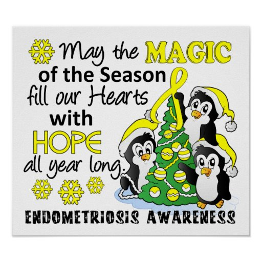 Christmas Penguins Endometriosis Print