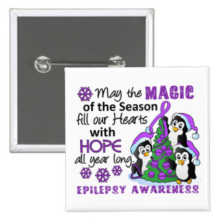 Christmas Penguins Epilepsy Buttons
