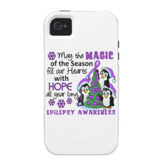 Christmas Penguins Epilepsy Case-Mate iPhone 4 Cases