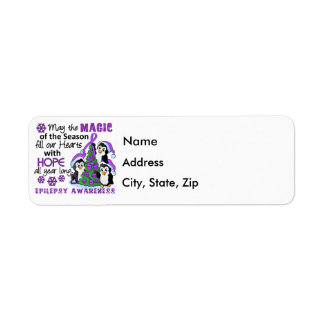 Christmas Penguins Epilepsy Return Address Label