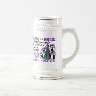 Christmas Penguins Epilepsy Coffee Mugs