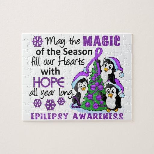 Christmas Penguins Epilepsy Jigsaw Puzzles