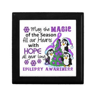 Christmas Penguins Epilepsy Trinket Box