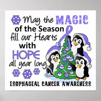 Christmas Penguins Esophageal Cancer Print