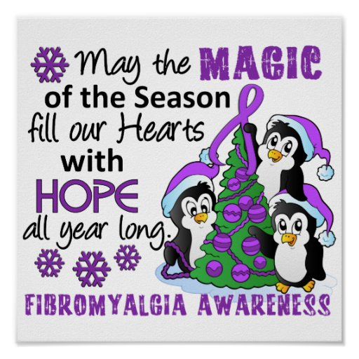 Christmas Penguins Fibromyalgia Print