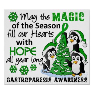 Christmas Penguins Gastroparesis Poster