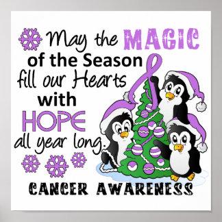 Christmas Penguins General Cancer Poster