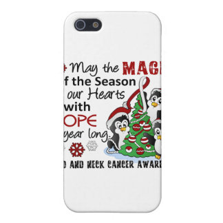 Christmas Penguins Head and Neck Cancer iPhone 5 Covers