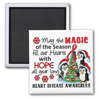 Christmas Penguins Heart Disease Magnet
