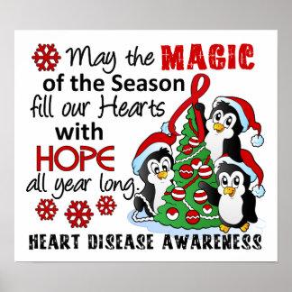 Christmas Penguins Heart Disease Poster
