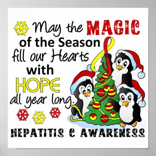 Christmas Penguins Hepatitis C Posters