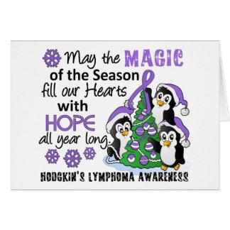 Christmas Penguins Hodgkin's Lymphoma Card