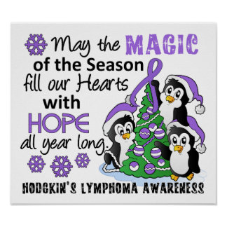 Christmas Penguins Hodgkin's Lymphoma Posters
