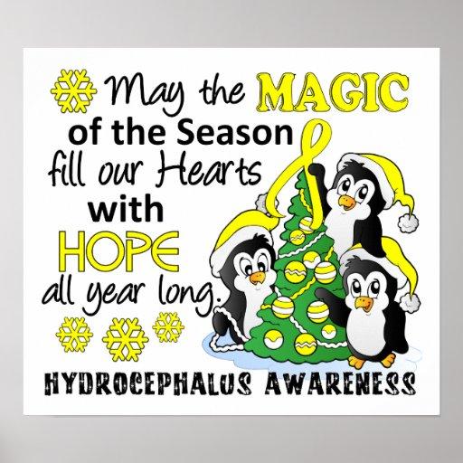 Christmas Penguins Hydrocephalus Posters
