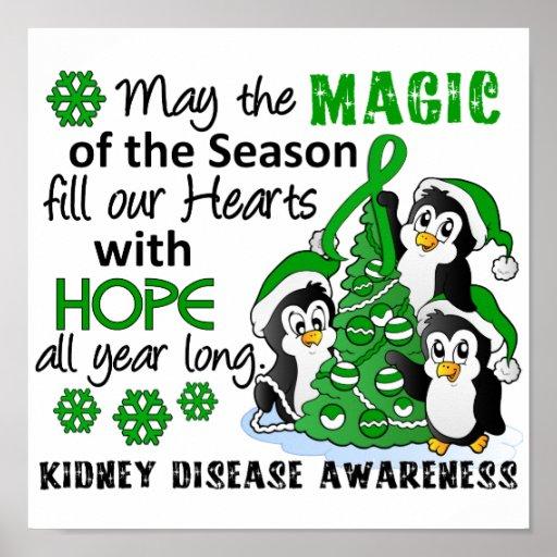 Christmas Penguins Kidney Disease Posters