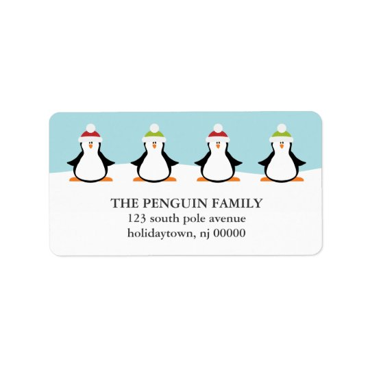 Christmas Penguins Labels
