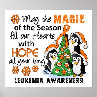 Christmas Penguins Leukemia Print