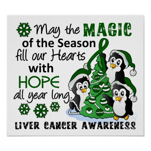 Christmas Penguins Liver Cancer Posters